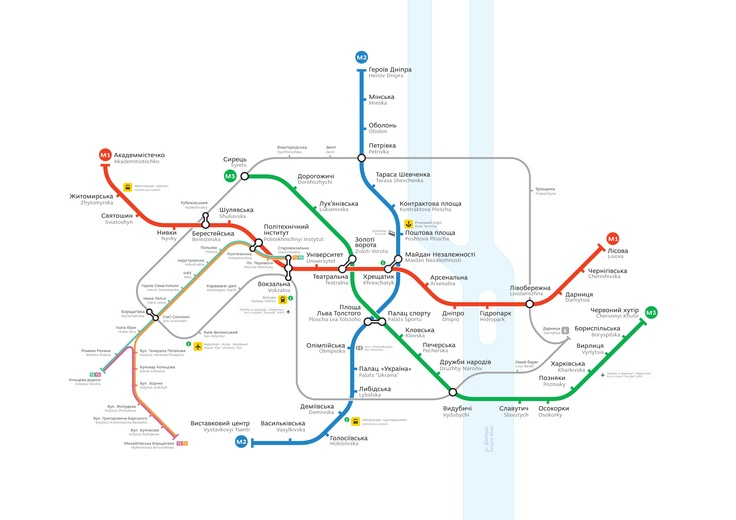Новая версия схемы киевского метро