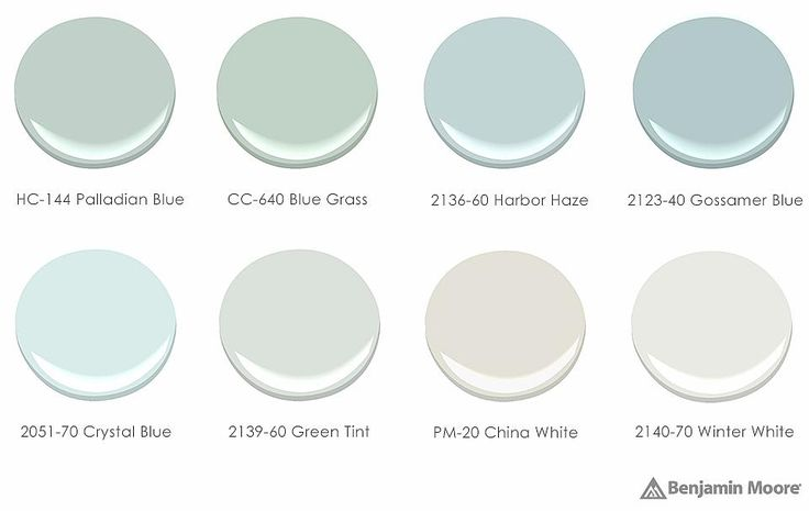 HC-144 Palladian Blue   for the living room. Jade Paint Palette