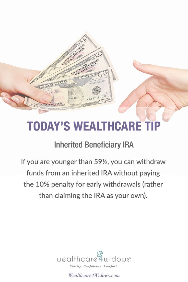 Today's Wealthcare Tip for #Widows : Inherited Beneficiary IRA
