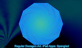 Regular Decagon Art. iPad and iPhone Apps: Spangled