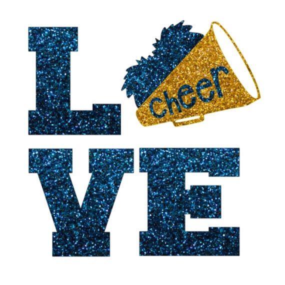 Glitter Cheer LOVE Iron On,  LOVE Cheerleading Iron On Transfer, Glitter Megaphone, DIY Cheer Shirt, Cheer Heat Transfer by IHeartHoundstooth on Etsy https://www.etsy.com/listing/249253437/glitter-cheer-love-iron-on-love