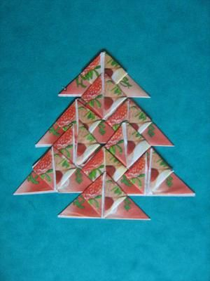 Vánoční stromeček z čajových sáčků :: M o j e v ý t v a r k a