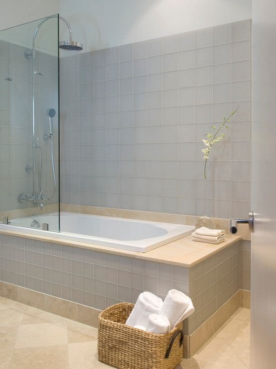 Jacuzzi tub shower combo design modern bathroom ideas for Shower over bath ideas