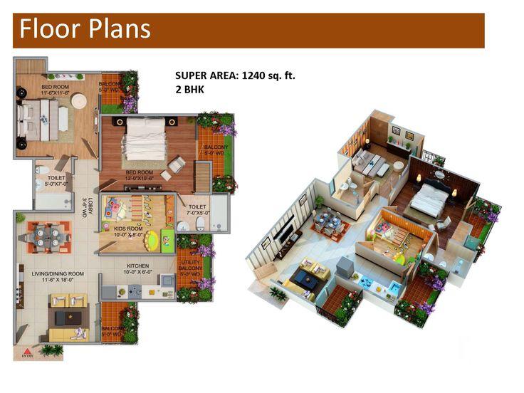 Supertech Romano floor plan