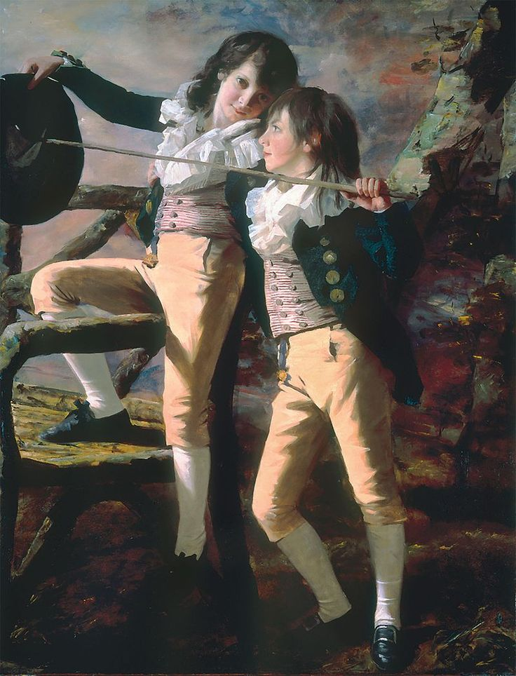 Henry Raeburn – 'The Allen Brothers' (Portrait of James and John Lee Allen), early 1790s, Oil on canvas, Kimbell Art Museum - Henry Raeburn - Wikipedia, the free encyclopedia