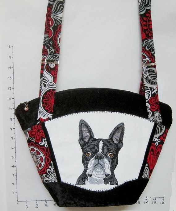 Embroidered Boston Bull Terrier  Realistic by SomethingPretty4U