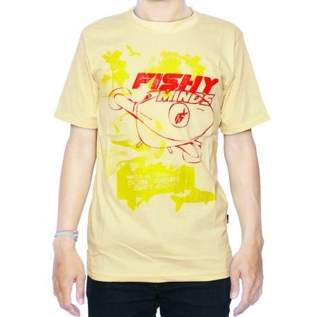 "Kaos Mancing IFT ""FISHY MINDS (CREAM)"""