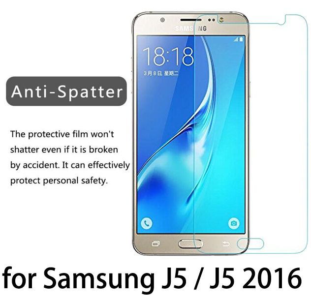 OP VERKOOP! 2.5d 9 h premium gehard glas film voor samsung j3 j5 j7 a3 a5 a7 2015 2016 galaxy grand prime screen protector case