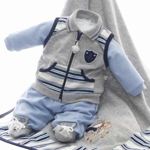 saída de maternidade beth bebê azul masculina luxo protetor