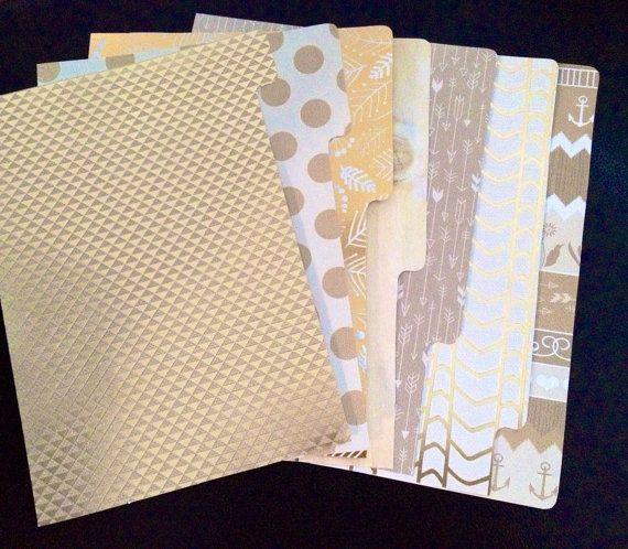 Filofax Dividers  Gold Theme A5 size by Glitteryjem on Etsy