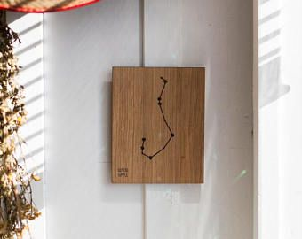 Zodiac Constellation Wooden Picture - Scorpio (23.10 - 21.11)