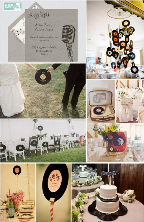 retro music inspired wedding - fun and funky with a DIY element.