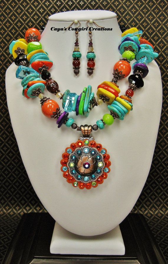 MULTICOLOR CHUNKY WESTERN / Fiesta Cowgirl by CayaCowgirlCreations