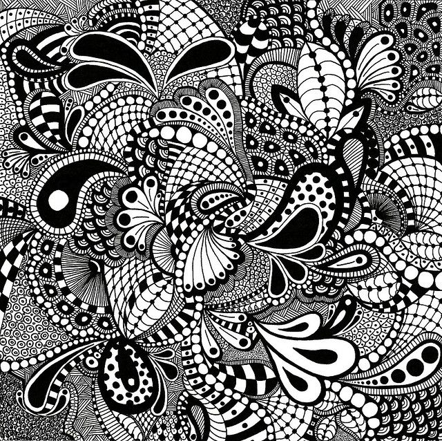 Zentangle paisley & pattern density