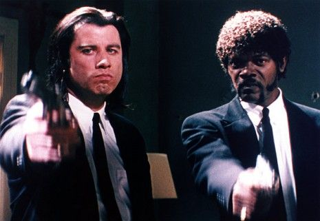 """Travolta - Jackson. """"The Lord will strike down upon thee with great vengeance and furious anger........."""""""