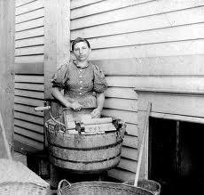 she looks thrilled, lol. washing...