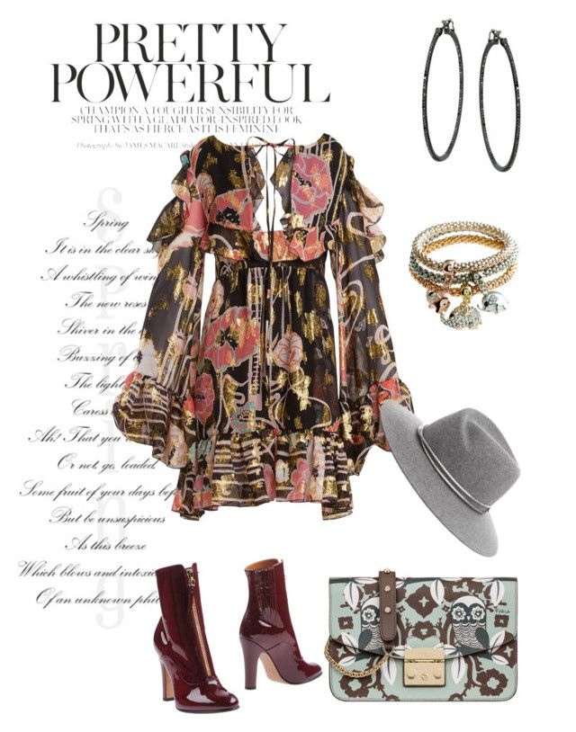 """Untitled #55"" by mambhele on Polyvore featuring Furla, Valentino and Dundas"