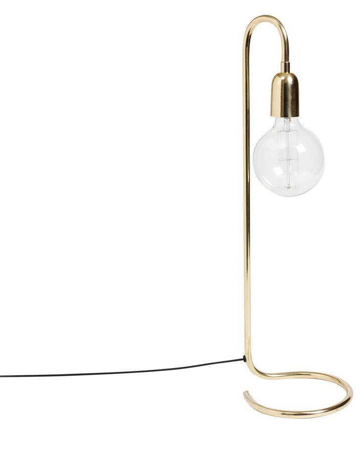 Bordslampa hög, blank mässing - H. Skjalm P