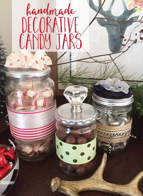 Diy Decorative Candy Jars Love This Idea For Upcycling