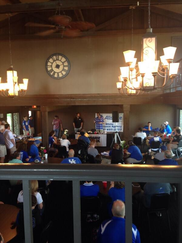 Another great time on the KSR Summer Tour! Stop #5 brought us to the Shelby County Country Club! Like we do on every stop, we gave away UK basketball tickets and people had a chance to be entered into the drawing for the Big Blue Bahamas' trip!! (Image via @LindseyKetcham2)