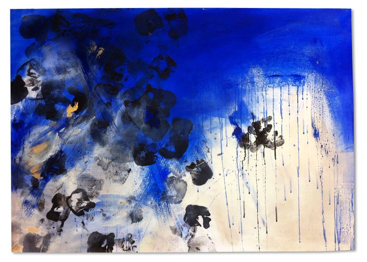 Blue skies. Series of 10 (acrylic, ink and oil on paper, 2014) | by Beatrice Zagato | abstract art