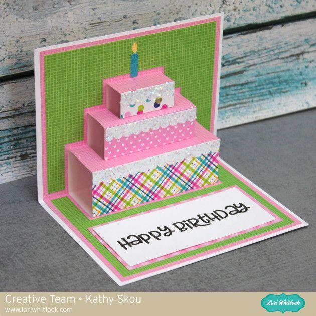 Birthday Wishes With Kathy Cricut Birthday Cards Cool Birthday Cards Birthday Card Craft