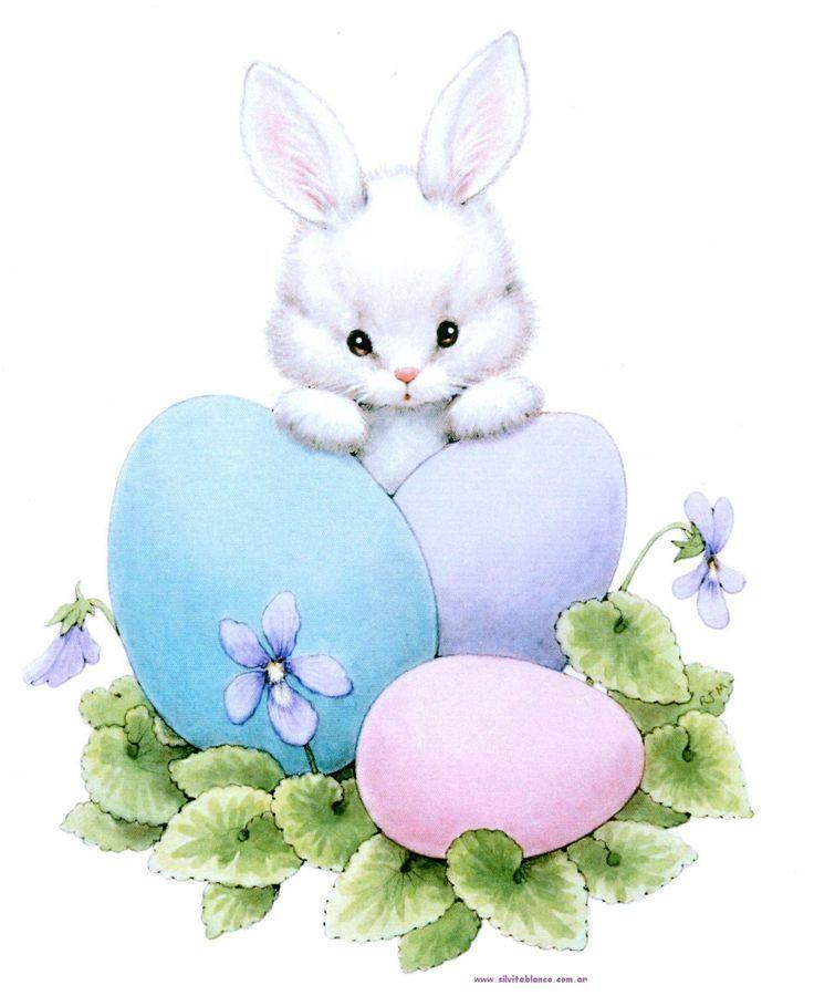 Картинка с пасхальным кроликом