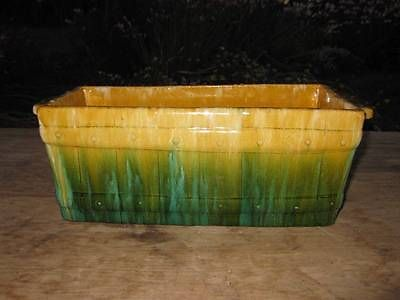 37.5cm x 13.5cm x 15.5cm John Campbell Picket Trough Vase Drip Glaze Large Signed Pottery Collectable   eBay could be numbered 710