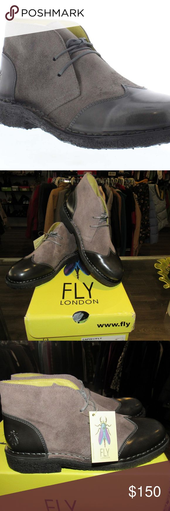 """NWT Fly London Ankle Boots! Fly London """"Capi917Fly"""" Lace Up Ankle Women Boots with 1"""" heel (Size 36EU/5.5-6 US). NWT/NWB and in good condition. We love to negotiate, so feel free to send us an offer!  Shipping is next business day.  Check out the rest of our closet. Thanks! Fly London Shoes Ankle Boots & Booties"""