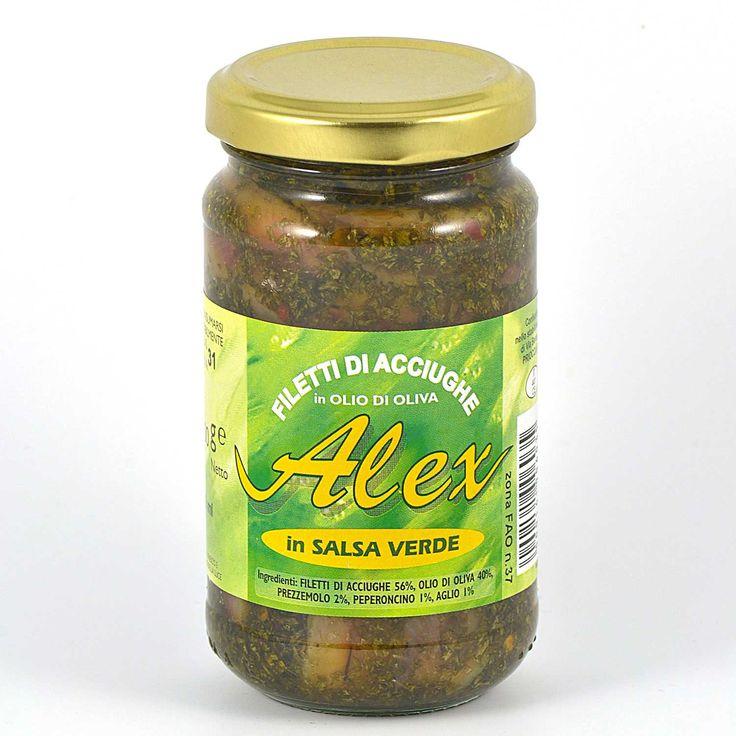 Alex Ergofood, filetti acciughe con salsa verde in olio oliva gr 212