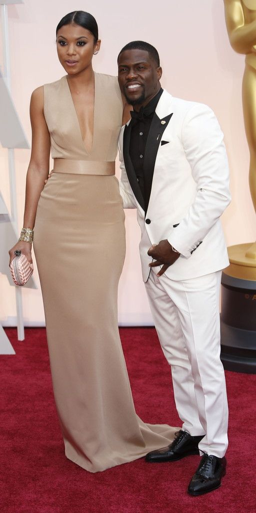 Kevin Hart and Eniko Parrish at the 87th Academy Awards February 22, 2015