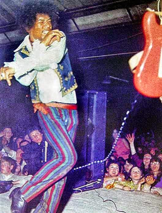 Jimi Hendrix at Barbque '67 which was held at Tulip Bulb Auction Hall in Spalding, Lincolnshire UK on Spring Bank Holiday (end of May) 1967