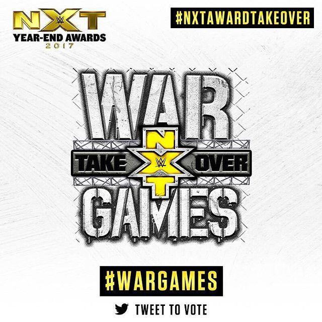 wwenxt Tweet #NXTAwardTakeover and #WarGames to vote for NXT TakeOver: WarGames as WWE NXT's Takeover of the Year! wwe.com/nxtyearendawards  2018/01/06 00:16:41