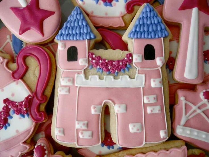 Castillo princesas: Royals Teas Parties, Cutout Cookies, Castillo Princesa, Mermaids Princesses Cookies, Cookies Ll, Royal Tea Parties, Cookies Design, Decor Cookies, Sugar Events
