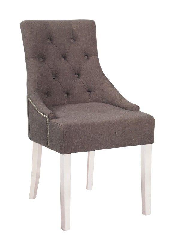 Nova spisestuestol - Grå/Brun spisestuestol i stof. Eksklusiv og flot spisestuestol til spisestuen, som nemt kan kombineres med flere stole fra samme serie. God siddekomfort og med mulighed for at hvile armene på armlænet.