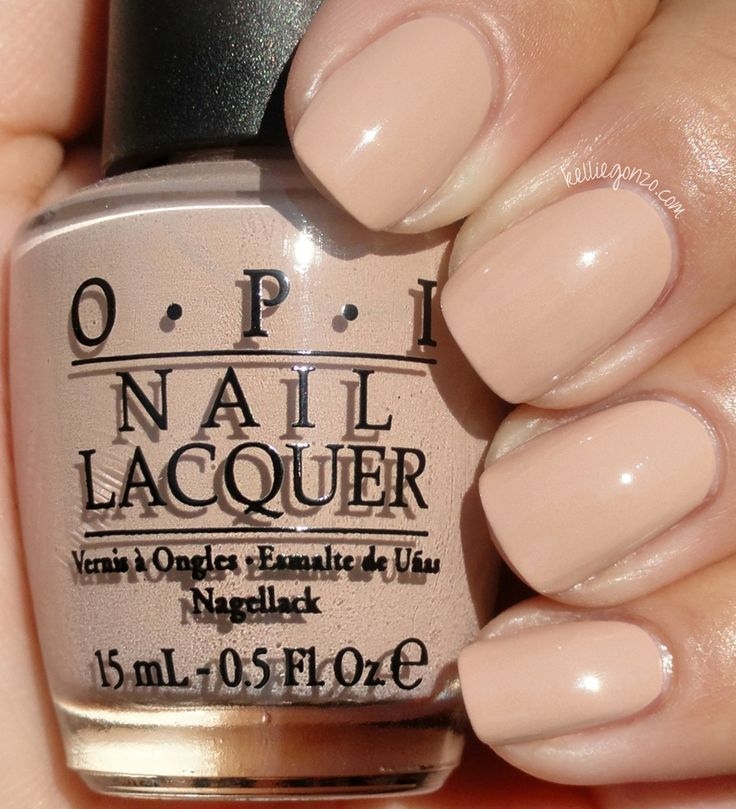 OPI Germany Collection - don't pretzel my buttons. Perfect nude for darker skin tones