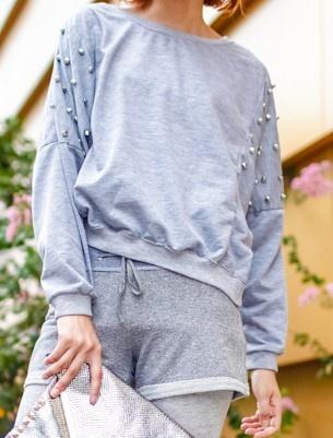 Grey Batwing Long Sleeve Rivet Sweatshirt: Shops Grey, Grey Batwing, Cat, Riveter Sweatshirts, Offer Grey, Sleeve Riveter, Long Sleeve, Sweatshirts Online, Batwing Long