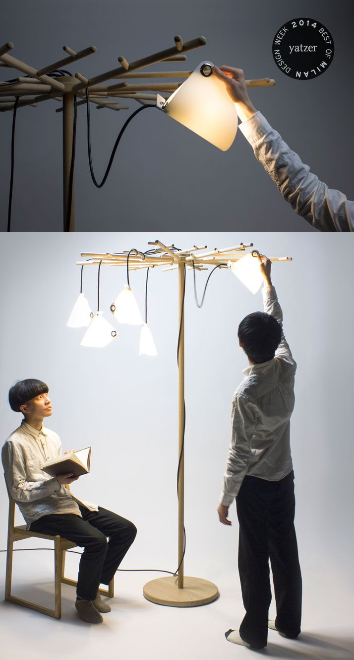 Light Woods floor light by Tomoya Yoshino http://www.yatzer.com/best-of-milan-design-week-2014