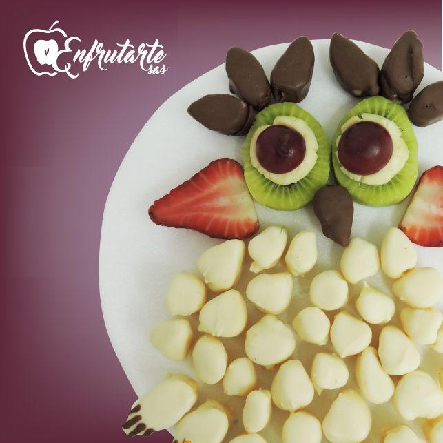 Busca el Arreglo #Enfrutarte Buho en nuestra Web http://www.enfrutarte.com  #frutas #arreglos #adornos #Colombia #Cúcuta
