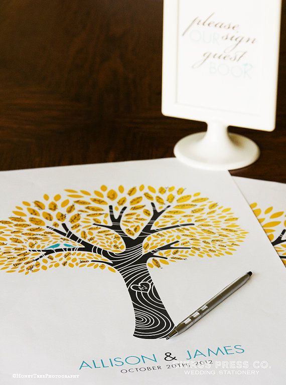 Tree Guest Book Wedding Marriage Poster 11x17  by CitrusPressCo, $40.00