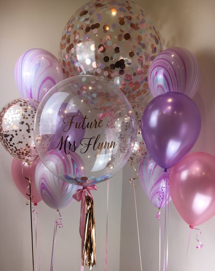 Personalised Bubble Confetti Balloon