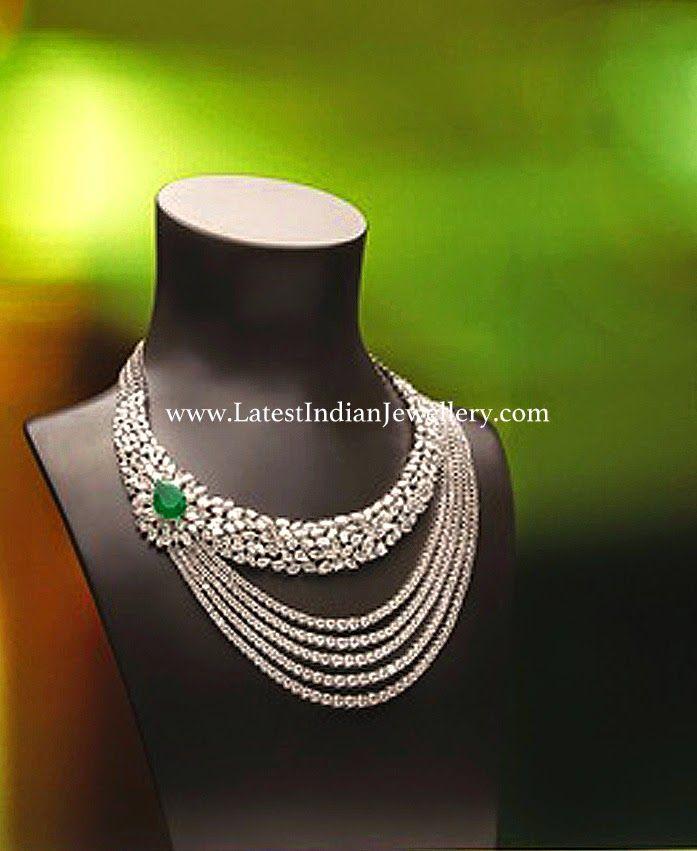 Diamond Necklace in Stylish Design