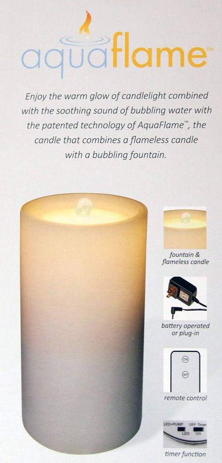 Check out the deal on Outdoor AquaFlame White Resin Fountain Candle - Remote Included at Battery Operated Candles