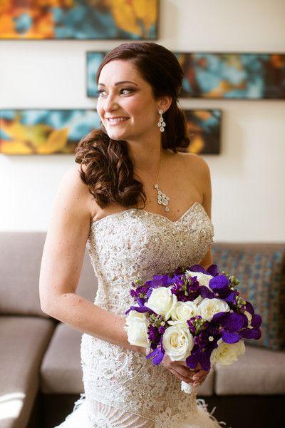 Purple Connecticut Ballroom Wedding Wedding Flowers Photos on WeddingWire