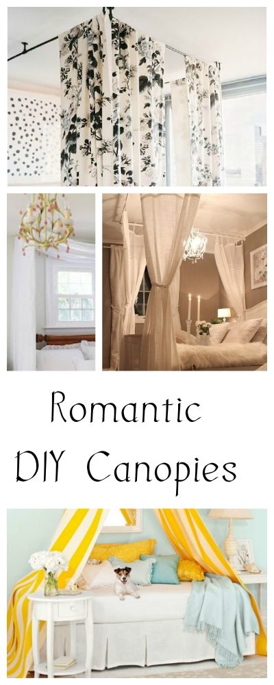 Romantic DIY Canopies on a Budget  sc 1 st  Pinterest & Best 25+ Cheap canopy beds ideas on Pinterest | Curtain rod canopy ...