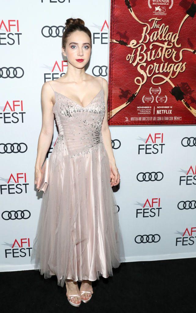 2bb3cfa31c09 Zoe Kazan In Prada -  The Ballad of Buster Scruggs  AFI Gala ...
