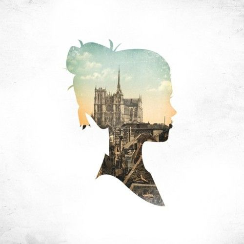 How do you feel about his & hers couple silhouettes with our home cities in the background?