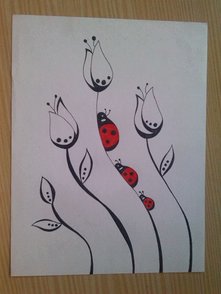 Drawing made with ink pen and red colored pencil   2014