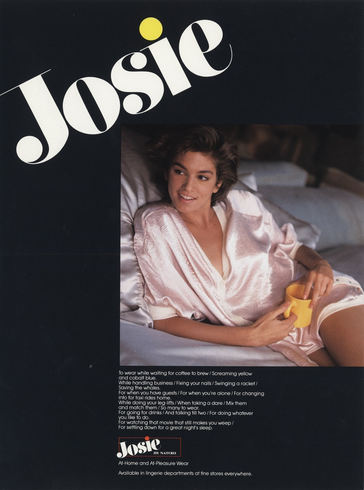 Cindy Crawford as the Josie girl c. 1980's!