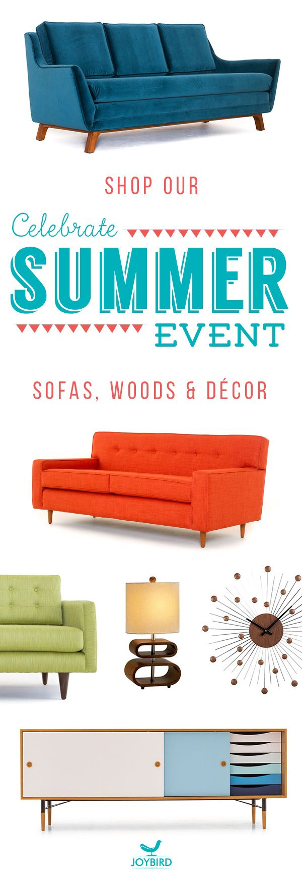 Why Be Generic When You Can Stand Out With Mid Century Modern Furniture  From Joybird? Take Off Sofas, Wood Items, And Decor Right Now During Our  Summer Sale ...
